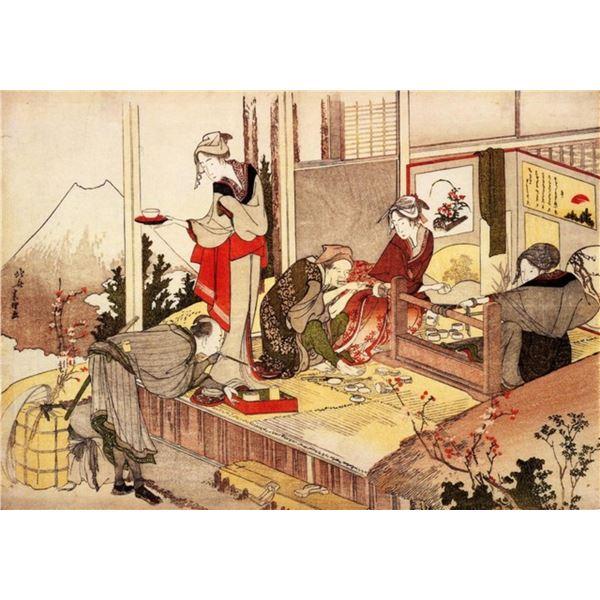 Hokusai - The Studio of Netsuke