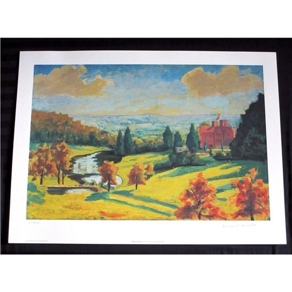 """Sir Winston Churchill """"View of Chartwell"""""""