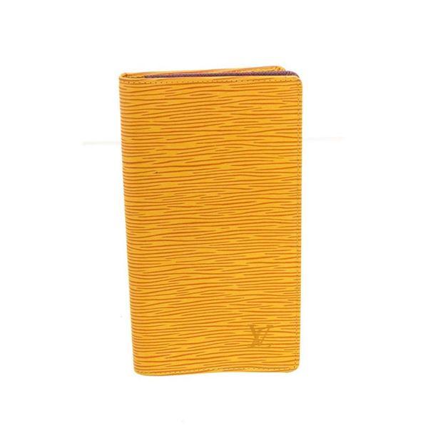 Louis Vuitton Yellow Epi Leather Long Card Wallet