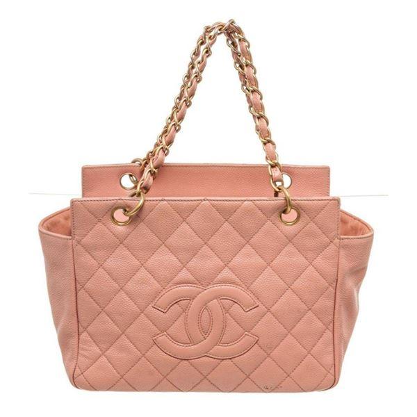 Chanel Orange Leather Shoulder Bag