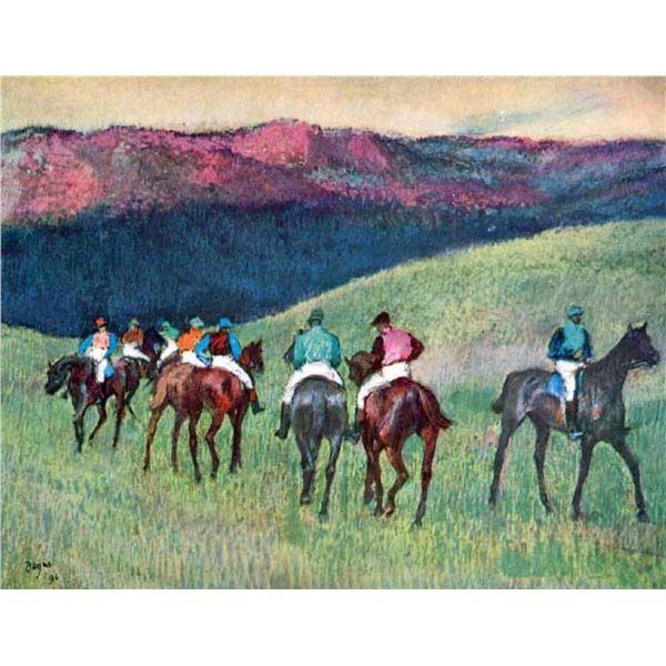 Edgar Degas - Horse Racing -The Training
