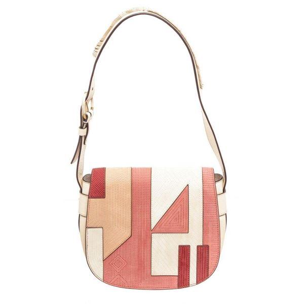 Tory Burch Multicolor Canvas Coral Patchwor Shoulder Bag