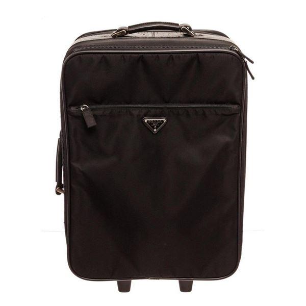 Prada Black Tessuto Suit Case Travel Bag