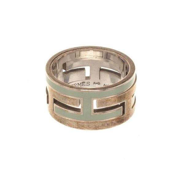 Hermes Silver H Move Ring