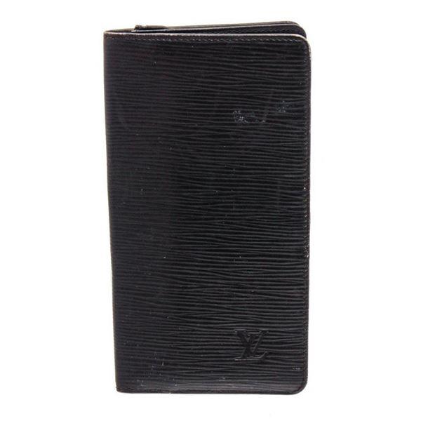 Louis Vuitton Black Epi Leather Long Cardholder