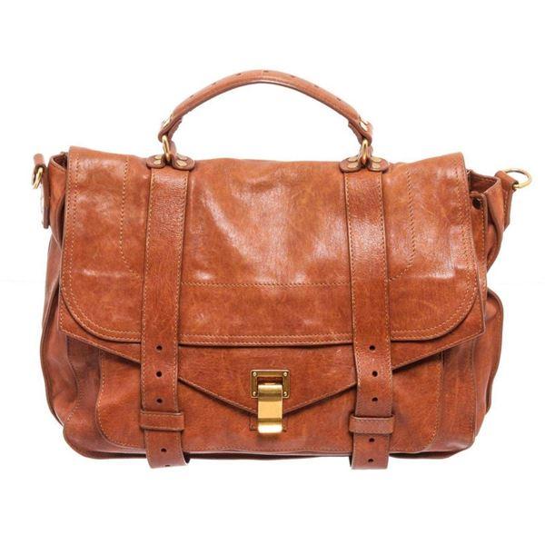 Proenza Brown Leather Schouler Messanger Bag
