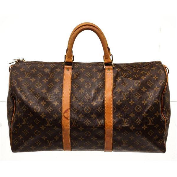 Louis Vuitton Brown Monogram Keepall 50cm Travel Bag