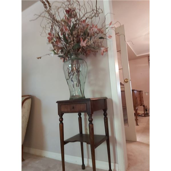 Antique table & flowers A
