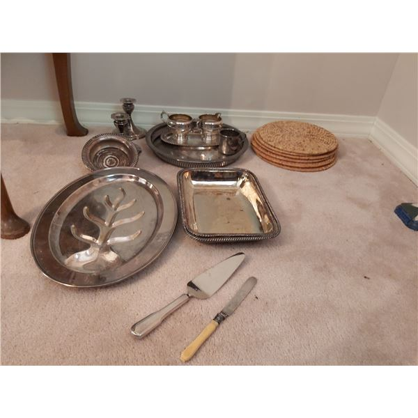 Silver plated serving pieces A