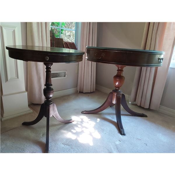 Two round side tables B