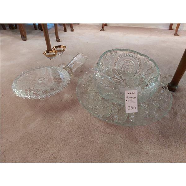 Cut Glass Punchbowl Set Cat A