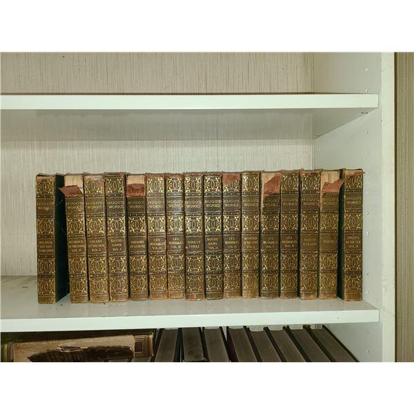 Antique Books Works of Victor Hugo  A