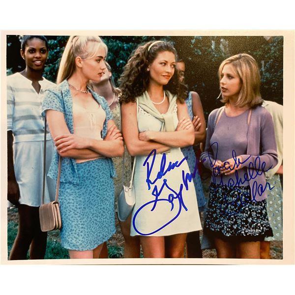 Scream 2 Sarah Michelle Gellar and Rebecca Gayheart signed movie photo