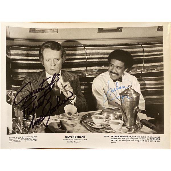 Silver Streak Richard Pryor and Patrick McGoohan signed movie photo