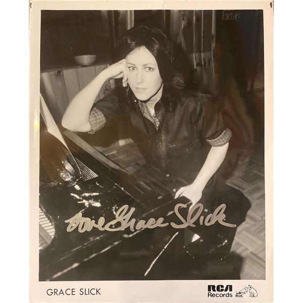 Grace Slick signed photo