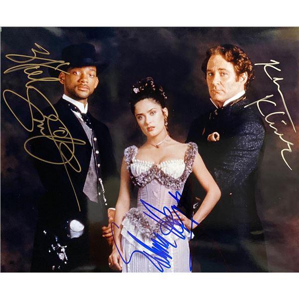 Wild Wild West Will Smith, Salma Hayek & Kevin Kline signed movie photo