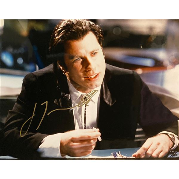 Pulp Fiction John Travolta signed movie photo