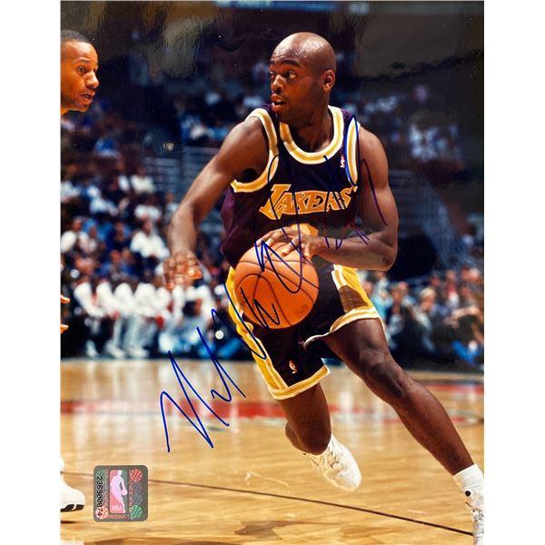 LA Lakers Nick Van Exel signed photo