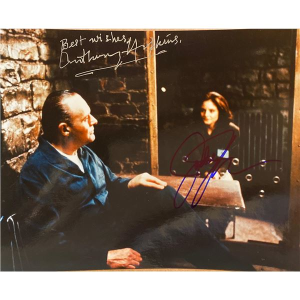 The Silence of the Lambs Jodie Foster and Anthony Hopkins signed movie photo