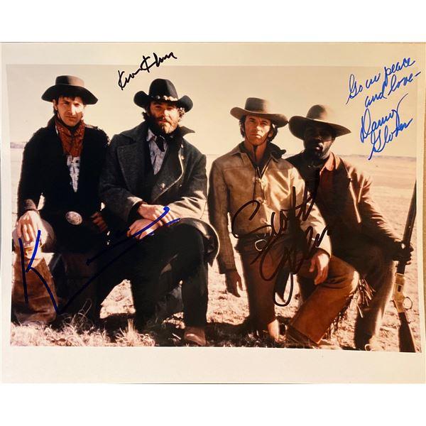 Silverado Kevin Costner, Kevin Kline, Scott Glenn, and Danny Glover signed movie photo