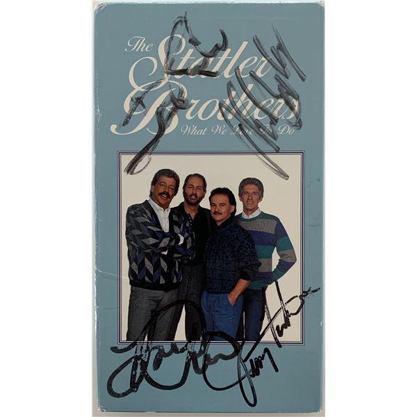 Statler Brothers signed VHS cover