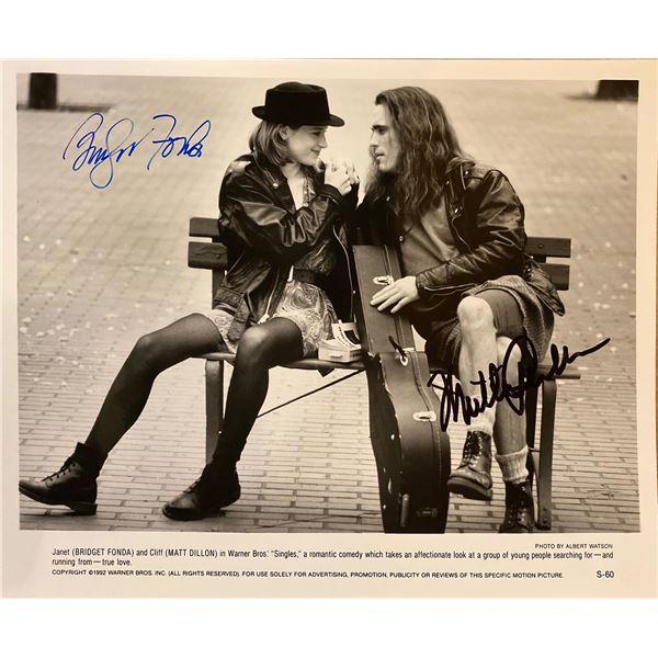 Singles Bridget Fonda and Matt Dillon signed movie photo