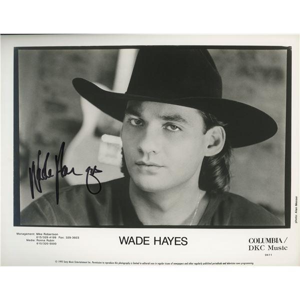 Wade Hayes signed photo