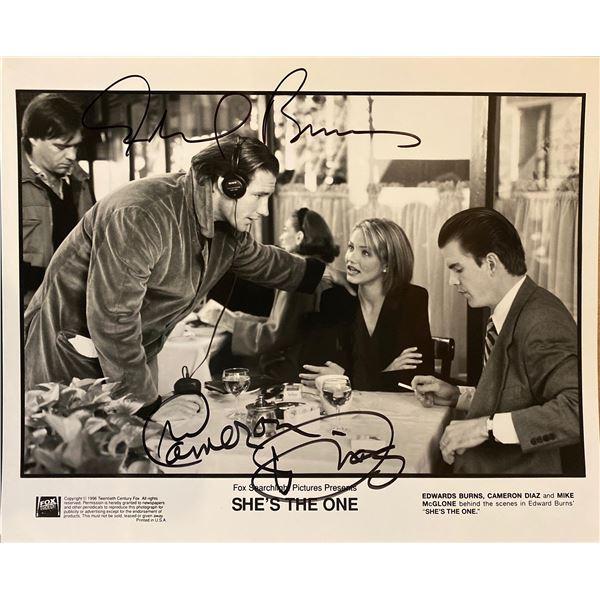She's the One Cameron Diaz and Edward Burns signed movie photo
