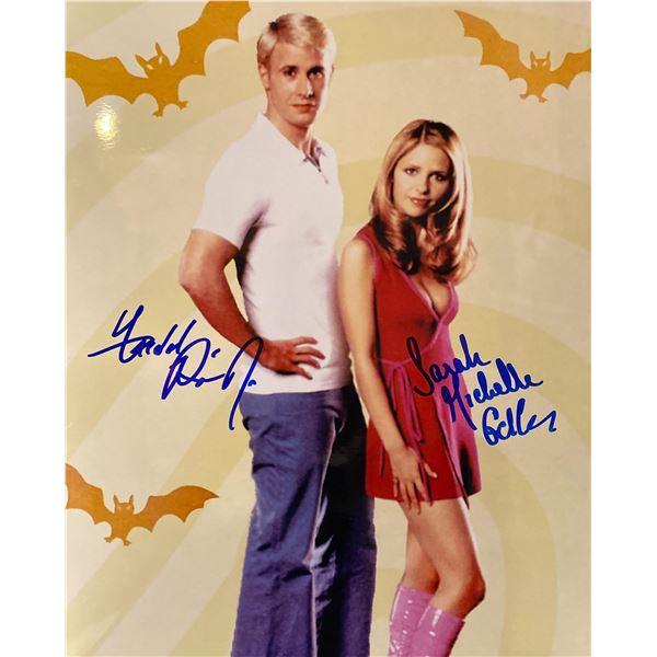 Scooby-Doo Freddie Prinze Jr. and Sarah Michelle Gellar signed movie photo