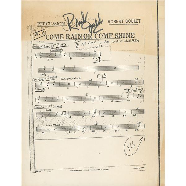 Robert Goulet signed music