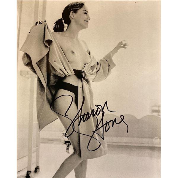 Sharon Stone signed photo