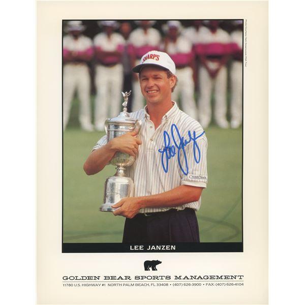 Lee Janzen signed PGA award photo
