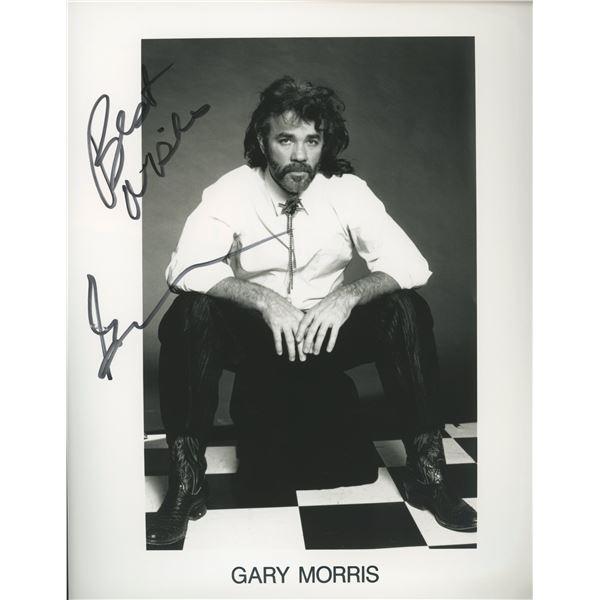 Gary Morris signed photo