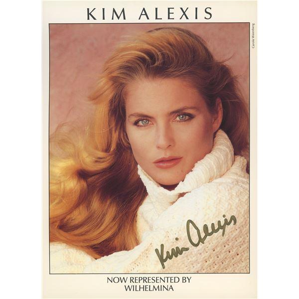 Kim Alexis signed Wilhelmina Modeling Agency photo