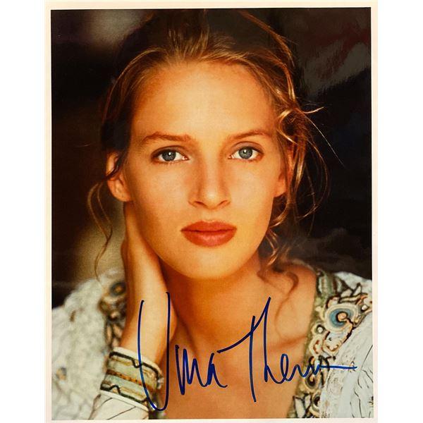 Uma Thurman signed movie photo