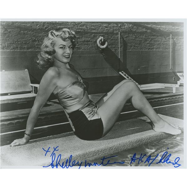 Shelley Winters signed photo.