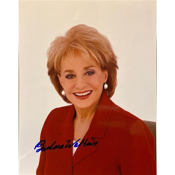 Barbara Walters signed photo