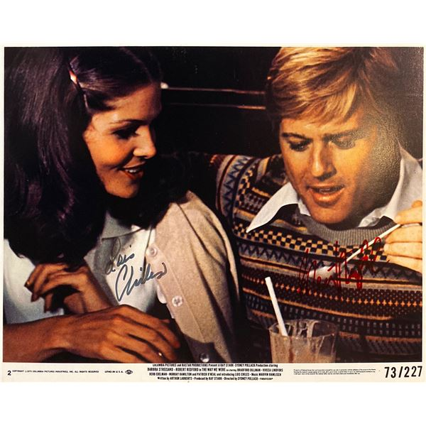 The Way We Were Robert Redford and Lois Chiles signed Mini Lobby Card