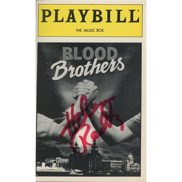 Helen Reddy signed Blood Brothers Playbill