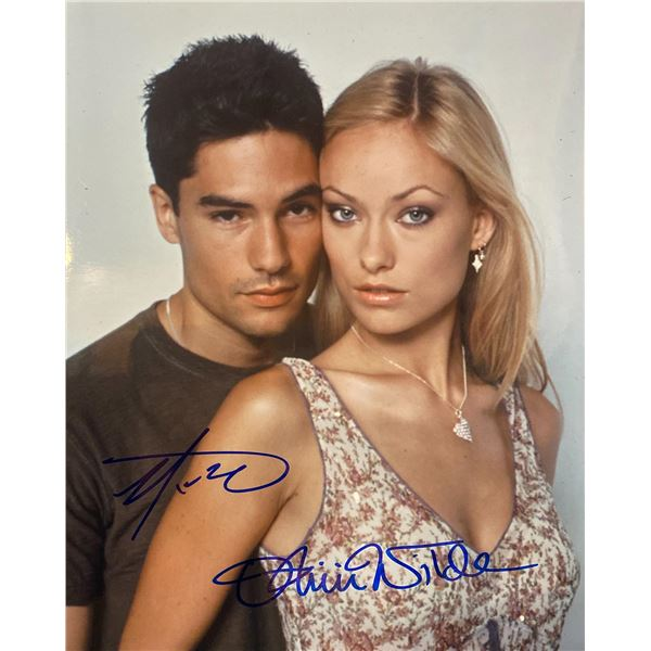 Skin Olivia Wilde and D.J. Cotrona signed photo