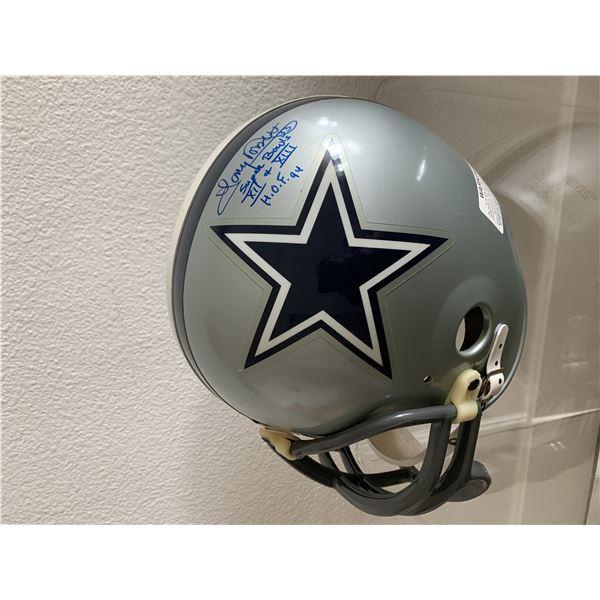Dallas Cowboys Tony Dorsett signed replica helmet