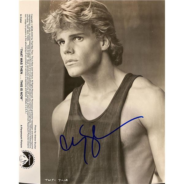 That Was Then... This Is Now Craig Sheffer signed movie photo