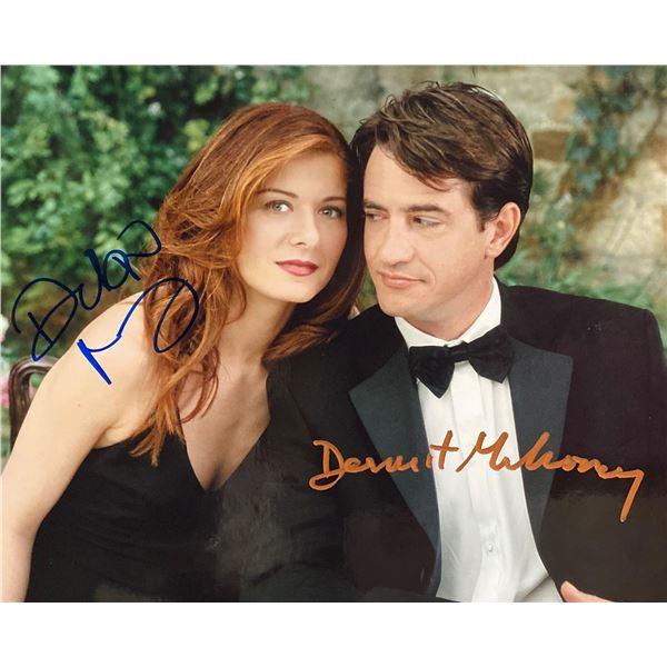 The Wedding Date Dermot Mulroney and Debra Messing signed movie photo