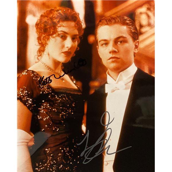Titanic Leonardo DiCaprio and Kate Winslet signed movie photo