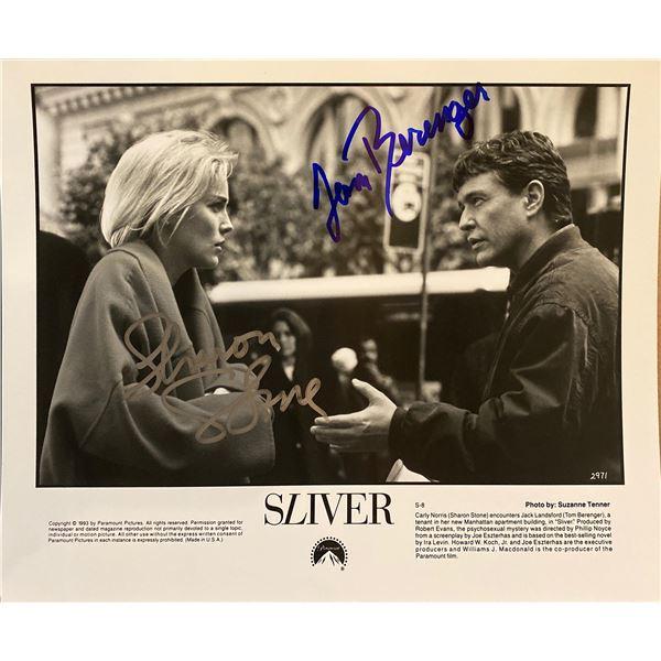 Sliver Tom Berenger and Sharon Stone signed movie photo