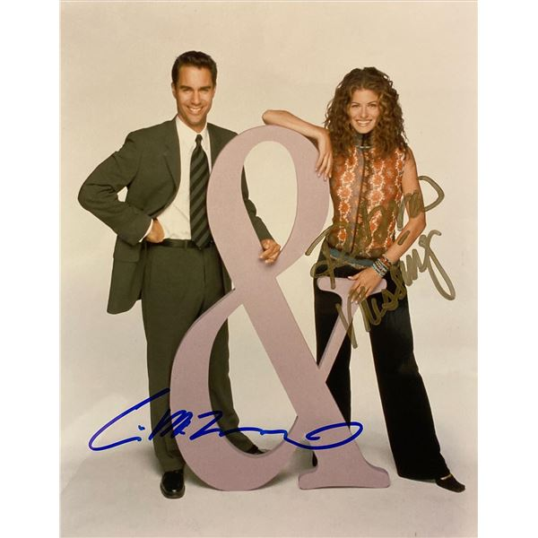 Will & Grace Debra Messing and Eric McCormack signed photo