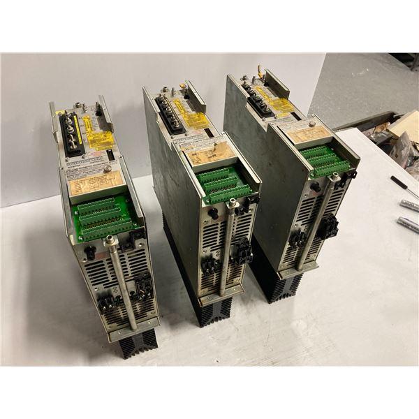 (3) Indramat A.C. Servo Controllers, M/N: KDS 1.1-100-300-W1-115