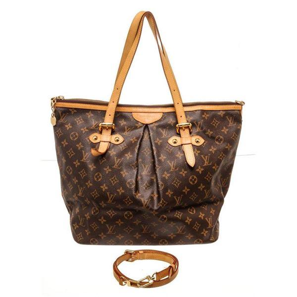 Louis Vuitton Brown Palermo GM Totes Bag