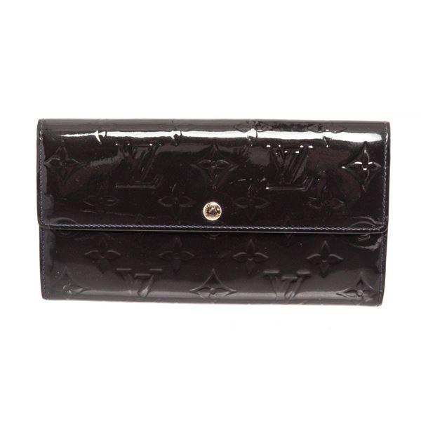 Louis Vuitton Dark Blue Vernis Leather Sarah Wallet