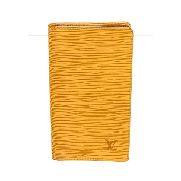 Louis Vuitton Yellow Leather Long Card Wallet